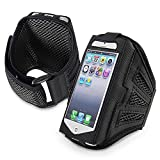 Everydaysource Compatible With Apple iPod Touch 6th Gen Apple iPhone 5C / SE Black/ Black Deluxe ArmBand