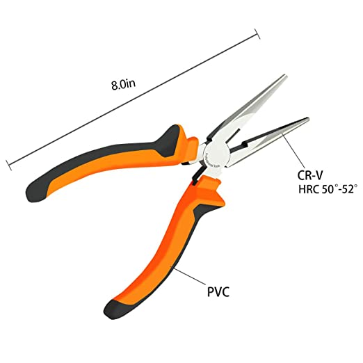 BOENFU Needle Nose Pliers 6 Inch Long Nose Plier for Jewelry Making Handcraft Making PCB Board Repairing - - Amazon.com