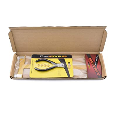 Square Ruler Black T Archery Nocking Pliers with 4 String nocking Points Set
