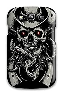 Galaxy S3 Case Cover - Slim Fit Tpu Protector Shock Absorbent Case (skull)