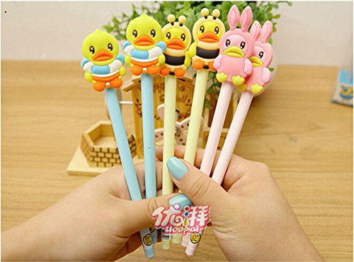 60pcs/lot 0.38mm Cute B.duck Rubber Duck Gel-ink Writing for sale  Delivered anywhere in USA