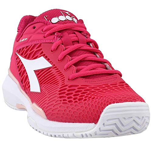 Diadora Womens Speed Competition 5 Ag Tennis Casual Shoes, Pink, 9.5