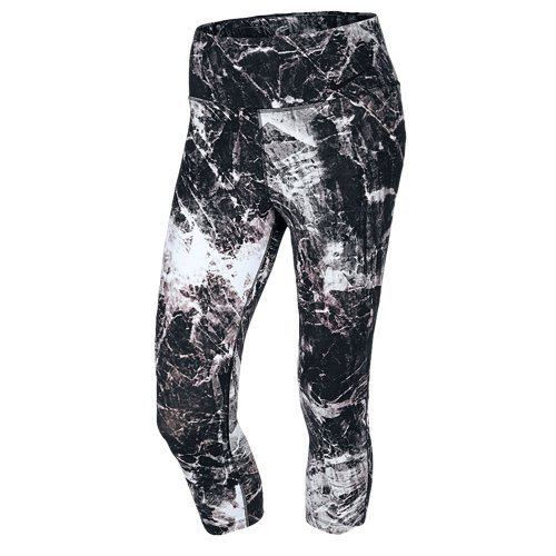 Nike Women's Dri-Fit Legendary Engineered Training Tight Capris-Black Marble-XL
