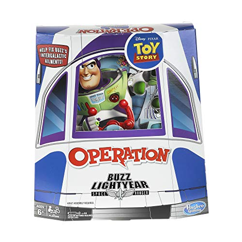 Hasbro Gaming Operation: Disney/Pixar Toy Story Buzz Lightyear Board Game for Kids Ages 6 & Up -