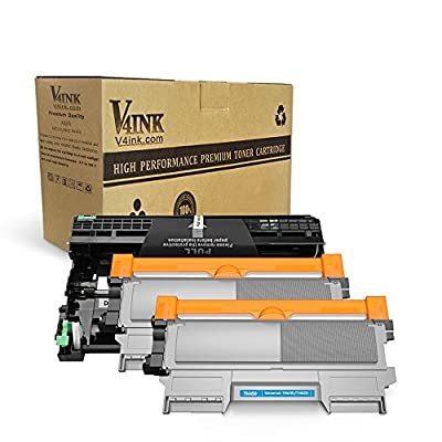 V4INK (1 Drum + 2 Toners) New Compatible Brother DR420 Drum + Compatible Brother TN450 Toner Cartridge Black High Yield Combo for Brother HL-2240D HL-2270DW HL-2280DW MFC-7360N MFC-7860DW Printer