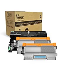 V4INK (1 Drum + 2 Toners) New Compatible Brother DR420 Drum + Compatible Brother TN450 Toner Cartridge Black High Yield Combo for Brother HL-2240D HL-2270DW HL-2280DW MFC-7360N MFC-7860DW Printer