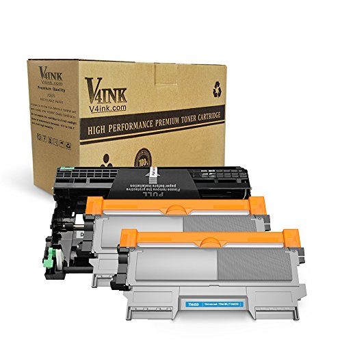 V4INK (1 Drum + 2 Toners) New Compatible Brother DR420 Drum + Compatible Brother TN450 Toner Cartridge Black High Yield Combo for Brother HL-2240D HL-2270DW HL-2280DW MFC-7360N MFC-7860DW Printer by V4INK