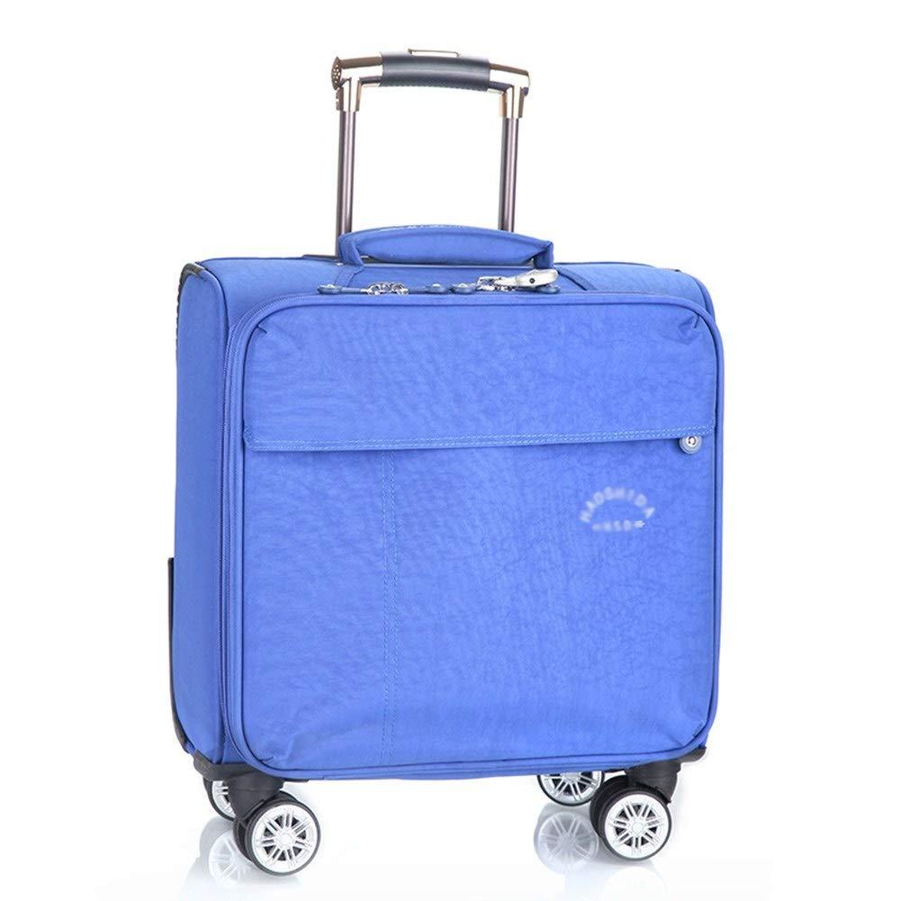 ZHANGQIANG ハンドトラベル荷物トロリーケース ラゲッジ軽量の拡張可能な機内持ち込み式ロールボードスーツケース、ブラック (色 : 青, サイズ さいず : 40*25*40cm(18)) B07S1VS6JP 青 40*25*40cm(18)
