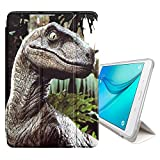 STPlus Dinosaur Prehistoric Animal Smart Cover With Back Case + Auto Sleep/Wake Function + Stand for Samsung Galaxy Tab A - 8'' (T350/T351/T355 Series)