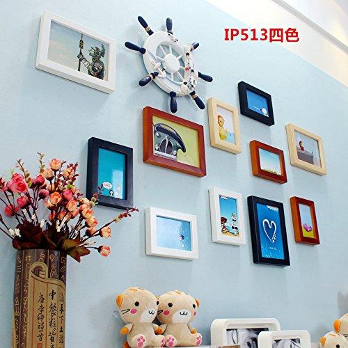 Das Wohnzimmer der Wall Bilderrahmen Wand kreative Kombination Wohnzimmer Schlafzimmer Kinderzimmer mediterranen Rahmen in minimalistischen besser weiß dekoriert