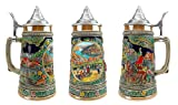 """""""Fall In Germany"""" Essence of Europe Gifts E.H.G. Collectible Ceramic Beer Stein with metal lid (#1 in Collection of Four Steins)"""