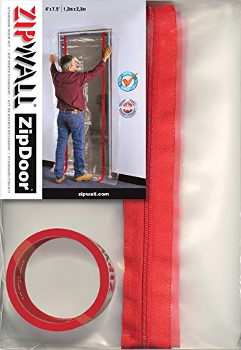 (ZipWall ZipDoor Standard Door Kit for Dust Containment,)