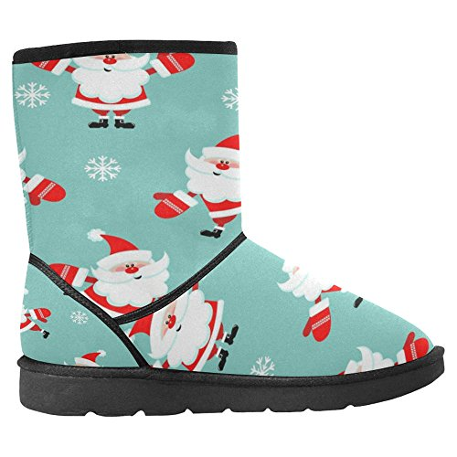 Snow Stivali Da Donna Di Interestprint Design Unico Comfort Invernale Stivali Funny Babbo Natale Multi 1