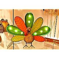 GIL 2350300 16 L B/O Lighted Metal Turkey Christmas, 16.1InL x 4InW x 12.3InH, Multicolor