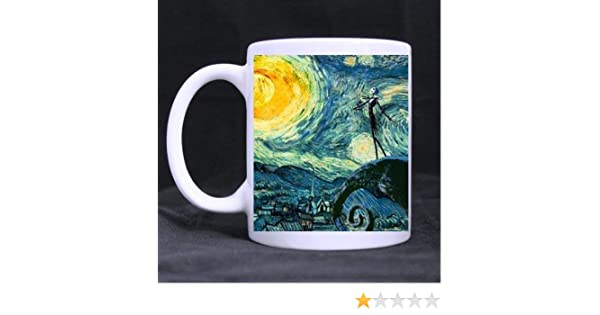 jack skellington the nightmare before christmas Custom White Mug by SKCASE: Amazon.es: Hogar