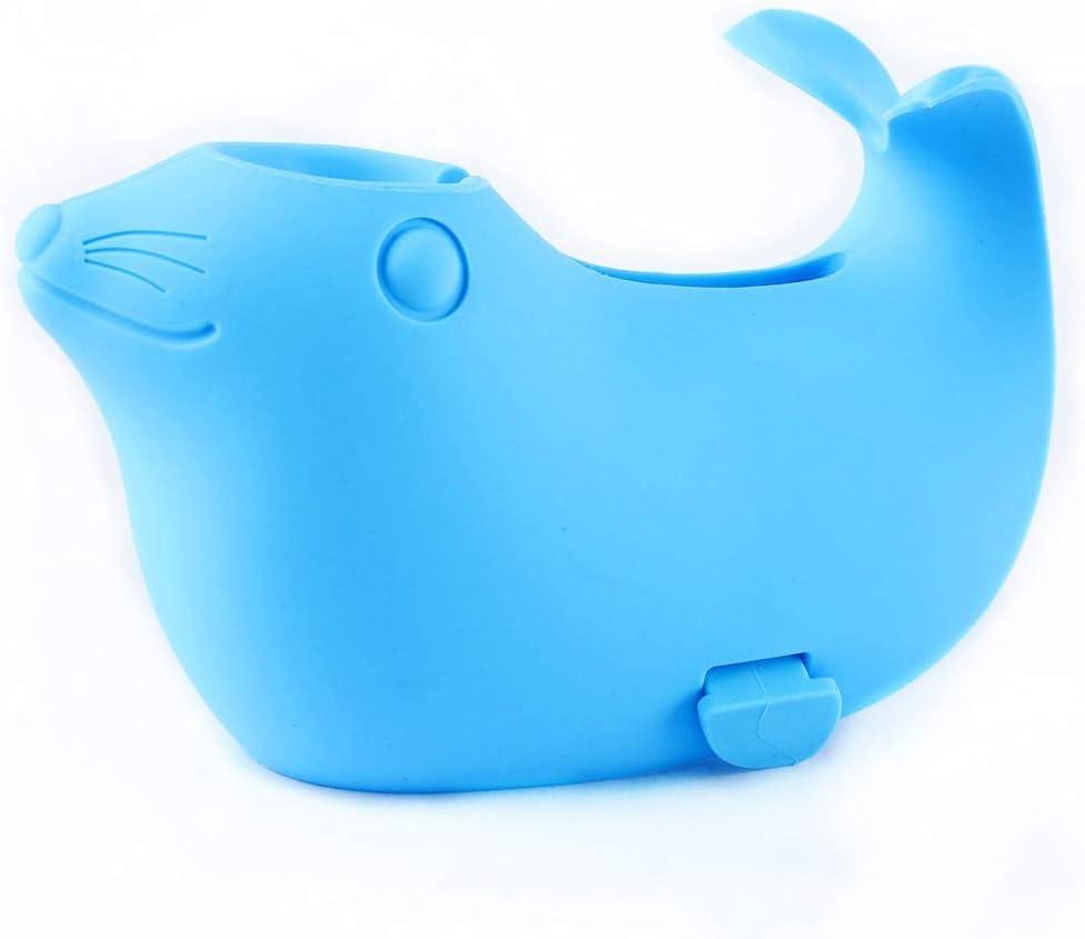 fansheng Cubierta protectora del grifo de la ballena, cubierta protectora del baño del bebé contra la colisión de la protección de los niños juguetes de baño