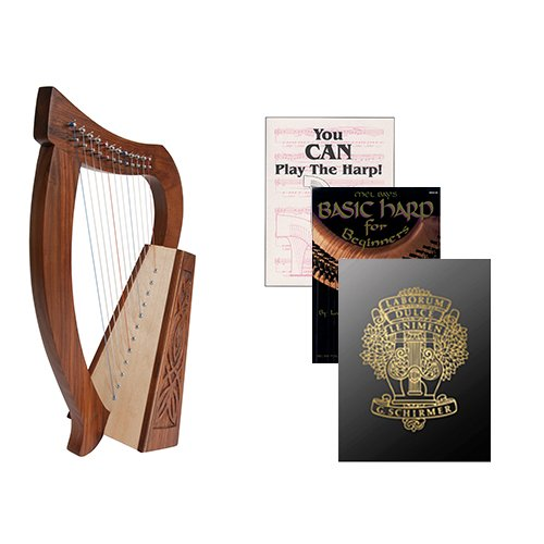 Homeschool Music Baby Harp w/Introduction to Harp Book Bundle + First Harp Book by Homeschooling Harps