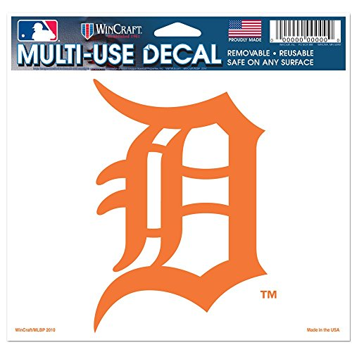 Detroit Tigers Decals (MLB Detroit Tigers 90236010 Multi-Use Colored Decal, 5