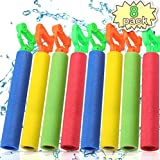 POKONBOY 8 Pack Water Guns for Kids Super Soaker Water Blaster Large Super Light Foam Squirt Guns Shooter Pool Toys - Summer Swimming Pool Beach Garden Water Toys for Boys Girls Adults