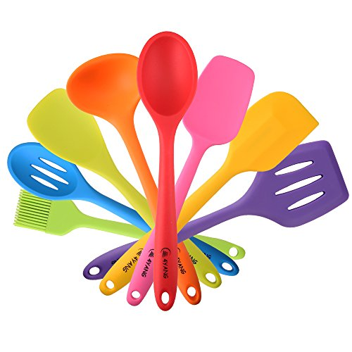 4YANG Silicone Utensil Sets- Heat Resistant Kitchen Gadgets (8