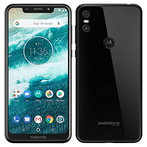 Motorola One XT1941-3 32B Unlocked GSM Dual-SIM Phone w/Dual 13+2 Megapixel Camera - Black