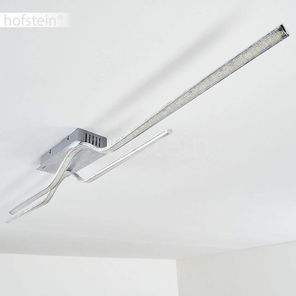 salon 3000 Kelvin Plafonnier LED Jamjo argent/é Spot de plafond au design futuriste /à deux bandes lumineuses effet cristal chambre 2100 lumens Lampe dint/érieur pour couloir