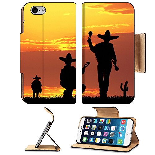 Liili Premium Apple iPhone 6 iPhone 6S Flip Pu Leather Wallet Case Mariachi band 29184247