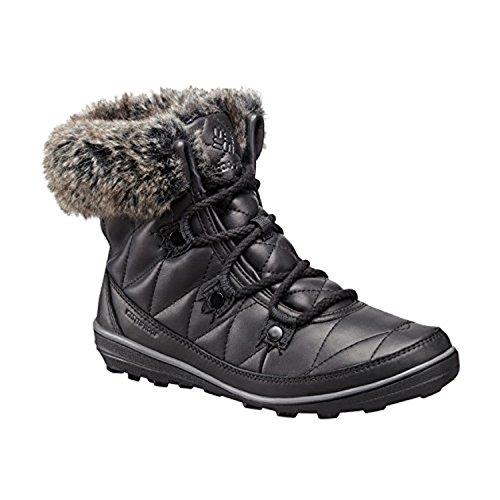 Columbia Womens Heavenly Shorty Omni-Heat Leather After Dark Black, Dark Fog