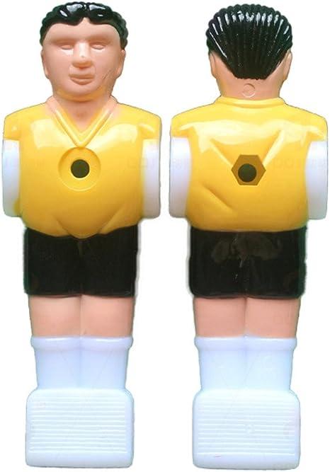 topshion 12pcs Estatua de jugador de fútbol futbolín hombre jugador de fútbol de mesa PARTE figura replacement-yellow + azul con bola, Amarillo: Amazon.es: Deportes y aire libre
