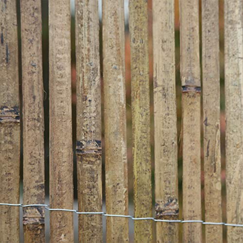 (FOREVER BAMBOO Split Bamboo Slats Screening Fencing, (Carbonized, 6 ft. H x 16 ft. L))