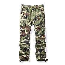 Men's Casual Sports Outdoors Military Cargo Pants #1866 C29 Camo 33