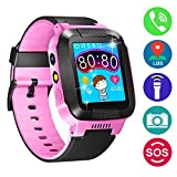 Cheap Kids Smartwatch with Camera, Effeltch Smart Watch With GPS Tracker Anti-Lost SOS Christmas Gift Watch for Girls Boys Children SmartWatch for iPhone Android Smartphone (Pink)