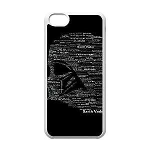 De Star Wars Darth Vader lado oscuro para la funda del teléfono celular 5c mejor cubierta del funda iPhone blanco