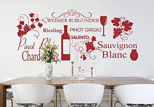 PINOT GRIS WINE DECAL WORD KITCHEN WALL STICKER HOME