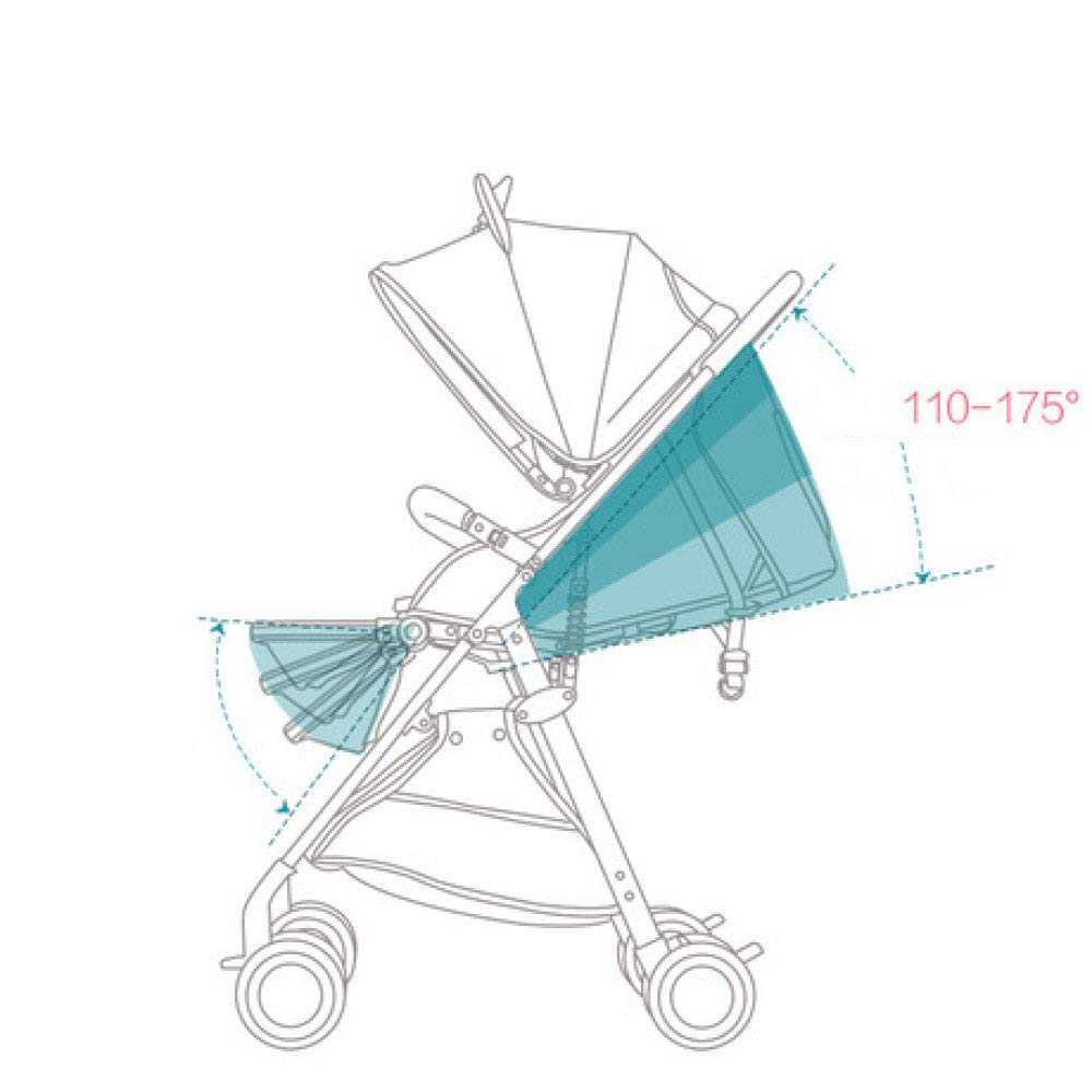 Pink day Baby Carriage Can Sit and Lay Ultra-Light Folding Portable Pocket Umbrella High Landscape Children's Trolley by Pink day (Image #6)