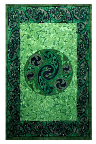 - Sunshine Joy Celtic Irish Snake Tie-dye Tapestry - 60x90 Inches - Beach Sheet - Hanging Wall Art