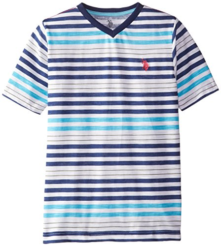 us-polo-assn-big-boys-slub-v-neck-striped-t-shirt-blue-sea-14-16