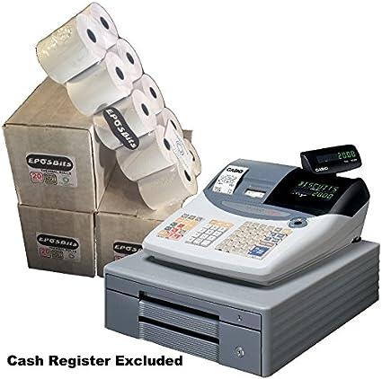 eposbits® marca rollos para caja registradora Casio TE-2000 TE2000 te 2000 – 60 rollos: Amazon.es: Oficina y papelería