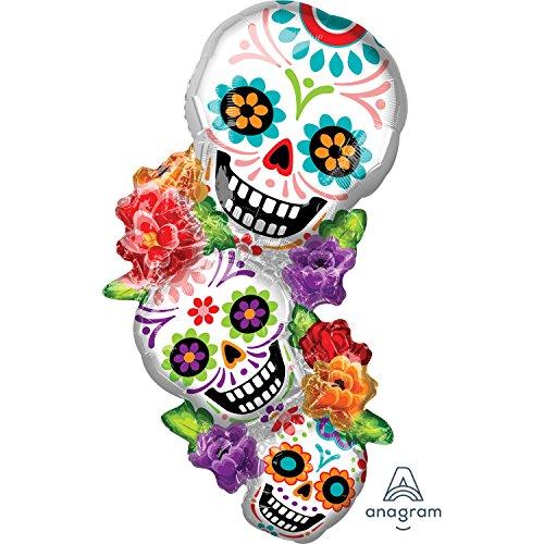 (Anagram International, Inc. 93371 Stacking Sugar Skulls Party Balloon, 38