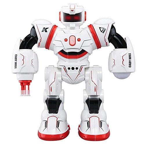 Domybest ラジコンロボット 人型ロボット JJRC-R3 インテリジェント 子供おもちゃ 男の子 女の子 ジェスチャーコントロール 多機能 遠い制御距離 干渉なし 誕生日プレゼント かっこいい 人気 (赤)
