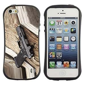Pulsar iFace Series Tpu silicona Carcasa Funda Case para Apple iPhone 5 / iPhone 5S , glock avstriyskiy