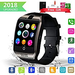 Bluetooth Smart Watch With Camera Touchscreen,waterproof Smartwatch Unlocked Phone Watchs With Sim Card Slot, Smart Wrist Watch Compatible With Android Iphone X 8 7 6 5 Plus Ios Samsung For Men Women