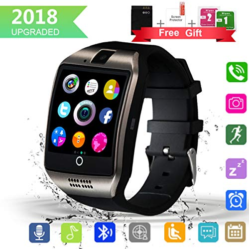 Bluetooth Smart Watch with Camera Touchscreen,Waterproof Smartwatch Unlocked Phone Watchs with SIM Card Slot, Smart Wrist Watch Compatible with Android iPhone X 8 7 6 5 Plus iOS Samsung