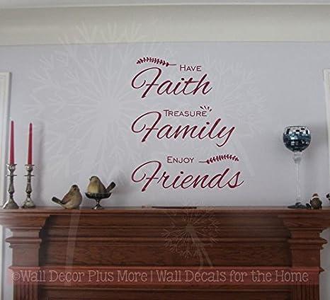 **Faith Family Friends Vinyl Wall Decal Decor **