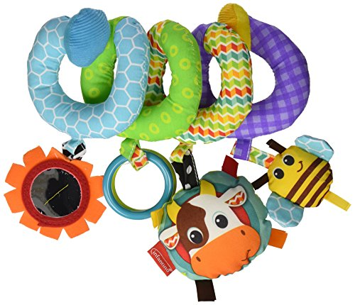 Infantino Spiral Activity Toy, Blue 12mo Free Ship