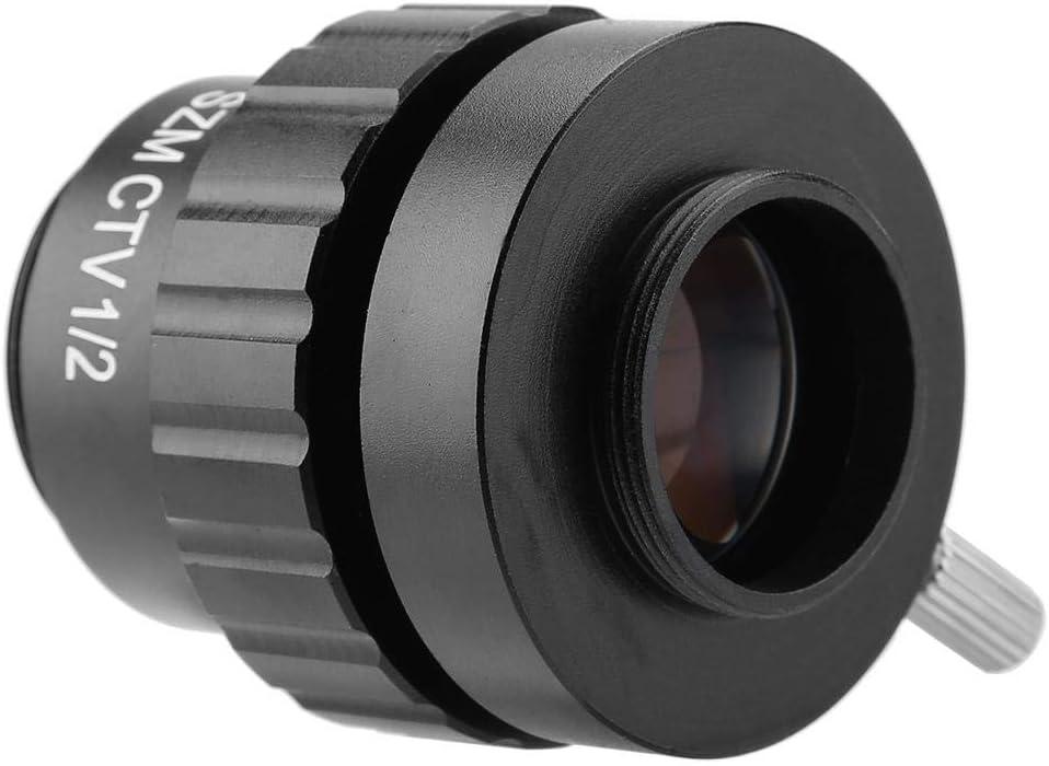 Jadpes Stereo Microscope Objective Lens 0.5X C-Mount Objective Lens 1//2 CTV Adapter for SZM Video Digital Camera Trinocular Stereo MICR