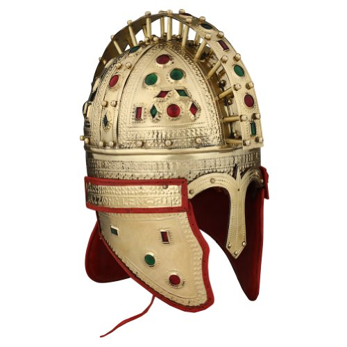Armor Venue Late Roman Officer Jewel Helmet 'Berkasovo' - One Size - Gold Armour