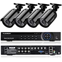 FLOUREON 8CH 1080N AHD 720P DVR Video Surveillance System + 4 Pcs Waterproof Outdoor HD 2000TVL 960P 1.3MP Bullet Cameras Home Security Kit (No HDD)