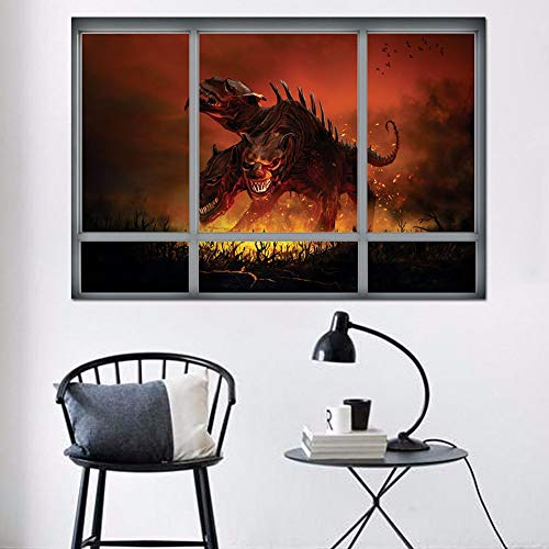 XQXCL Home Drecoration Halloween Witch Background Decorated Living Room Bedroom Wall Stickers]()