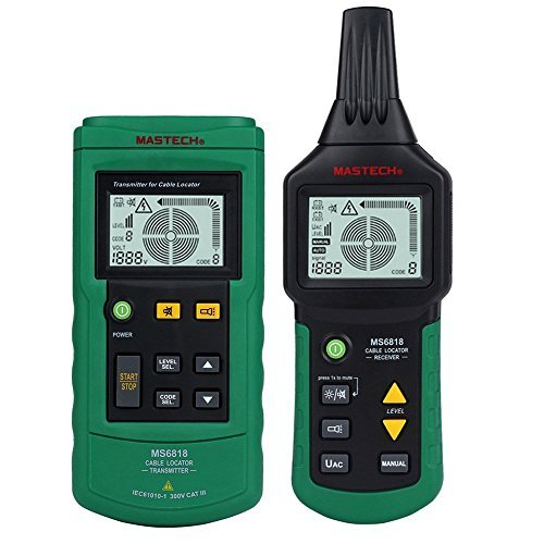 Seesii MS6818 Professional 12~400V AC/DC Wire Cable Tracker Metal Pipe Locator Detector Tester - Ideal Circuit Tracer